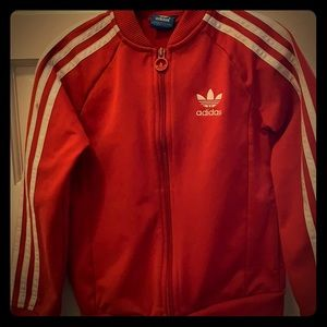 Kid's classic Adidas red track jacket